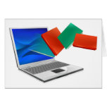 El ordenador portátil reserva la educación o el co felicitacion