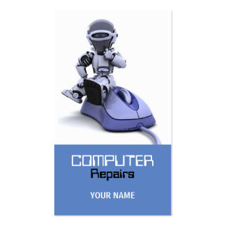 El ordenador repara la tarjeta de visita