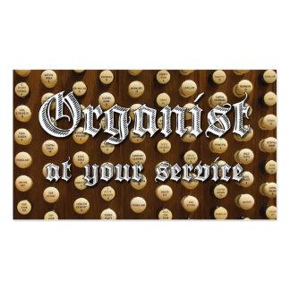 El organista en su empresa de servicios carda #5 plantillas de tarjetas de visita