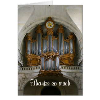 El órgano de París le agradece cardar Tarjeta Pequeña