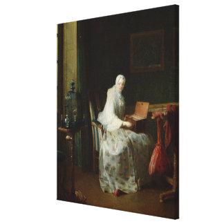 El órgano del pájaro o una mujer que la varía impresiones en lona estiradas