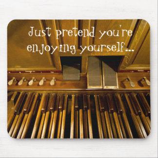 El órgano pedals mousepad para los organistas