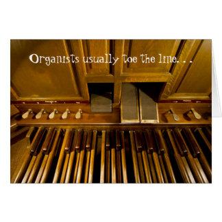 El órgano pedals tarjeta de cumpleaños para los