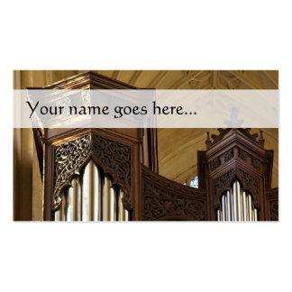 El órgano se eleva tarjeta de visita