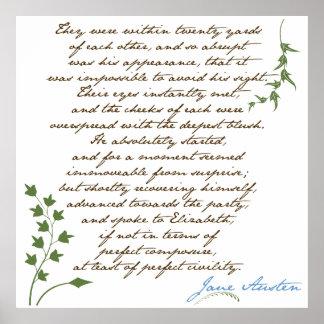 El orgullo de Jane Austen y cita 1 del perjuicio Impresiones