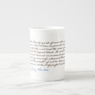 El orgullo de Jane Austen y cita #1 del perjuicio Taza De Porcelana