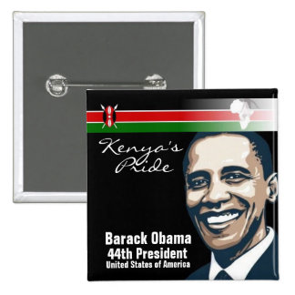 El orgullo de Kenia Pin Cuadrado