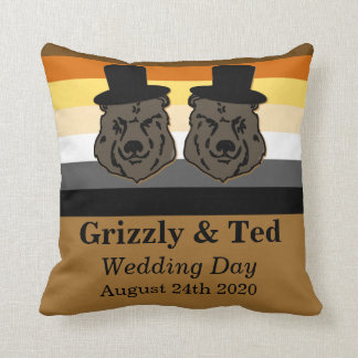 El orgullo del oso lleva el regalo de boda gay de cojín