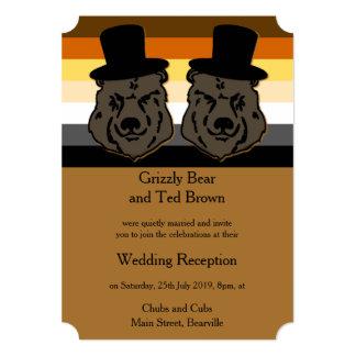 El orgullo del oso lleva la invitación Cheltenham Invitación 12,7 X 17,8 Cm