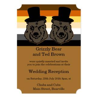 El orgullo del oso lleva la invitación de la invitación 12,7 x 17,8 cm