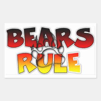 El orgullo del oso lleva regla pegatina rectangular