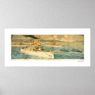 El orgullo del Pacífico en el puerto de San Franci Póster