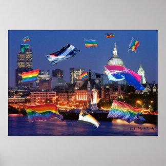 El orgullo del vuelo de Londres señala el poster p