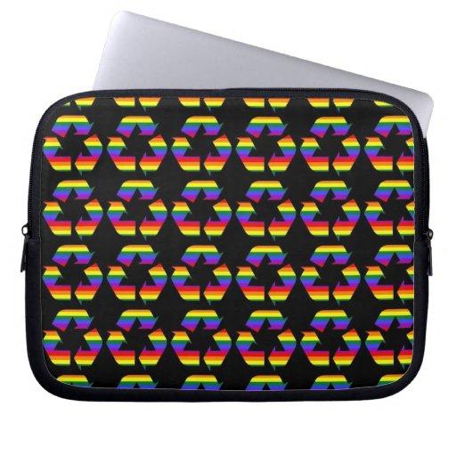 El orgullo gay del arco iris recicla símbolo mangas portátiles