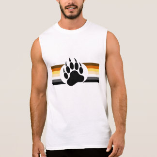 El orgullo gay del oso colorea rayas y la pata de camisetas sin mangas