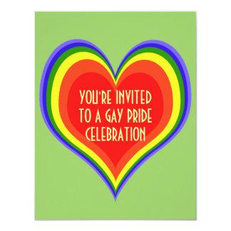"""El orgullo gay invita invitación 4.25"""" x 5.5"""""""