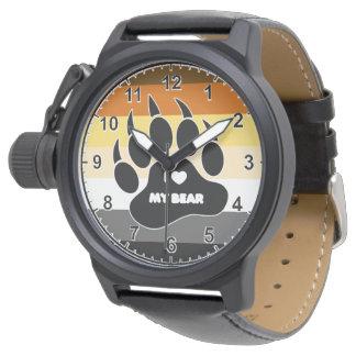 El orgullo gay muy fresco del oso colorea el relojes de pulsera