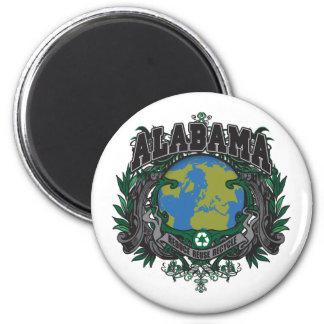 El orgullo recicla Alabama Imán Redondo 5 Cm