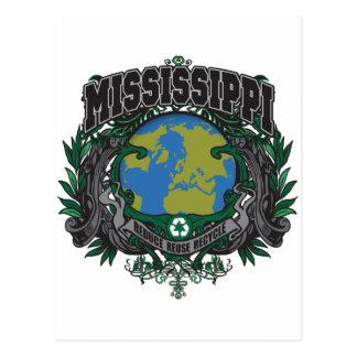 El orgullo recicla Mississippi Tarjeta Postal