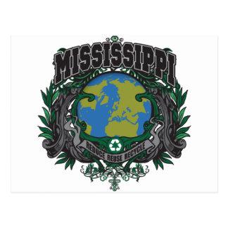 El orgullo recicla Mississippi Tarjetas Postales