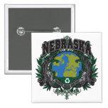 El orgullo recicla Nebraska Pin