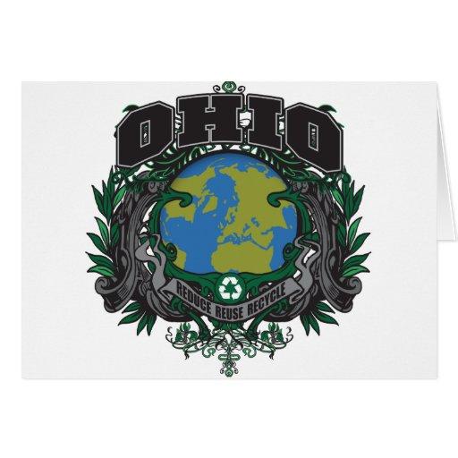 El orgullo recicla Ohio Tarjeta De Felicitación