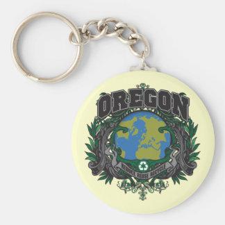 El orgullo recicla Oregon Llavero Redondo Tipo Pin