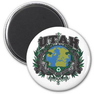 El orgullo recicla Utah Imán Redondo 5 Cm