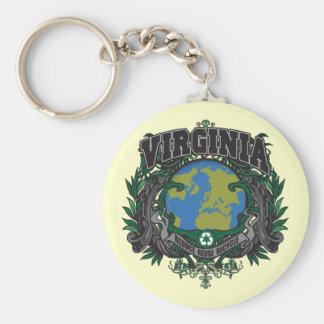 El orgullo recicla Virginia Llavero Personalizado