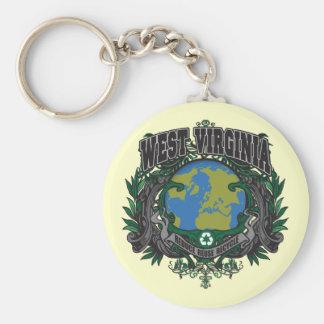 El orgullo recicla Virginia Occidental Llavero