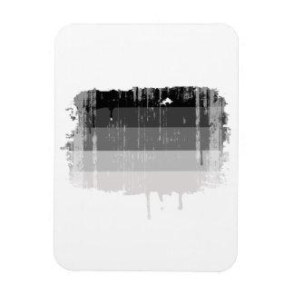 El orgullo recto colorea distressed.png rectangle magnet