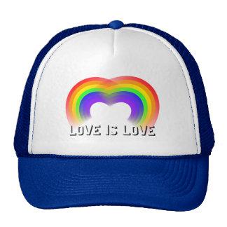 El orgullo y el amor de la igualdad es amor gorro de camionero