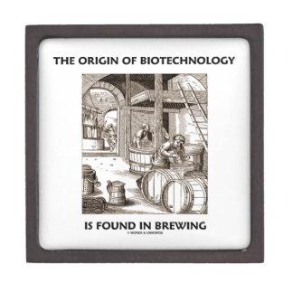 El origen de la biotecnología se encuentra en la e cajas de recuerdo de calidad