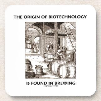 El origen de la biotecnología se encuentra en la e posavasos