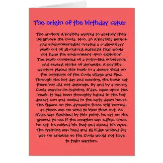 El origen de la tarjeta de cumpleaños de la torta