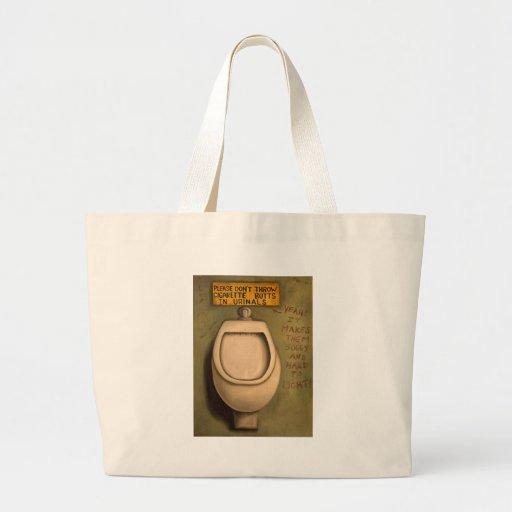 El orinal bolsas lienzo