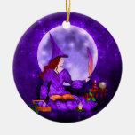 El ornamento Amethyst de Mabon de la bruja Adorno De Navidad