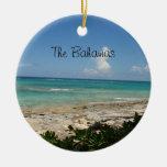 El ornamento de Bahamas Adorno Redondo De Cerámica