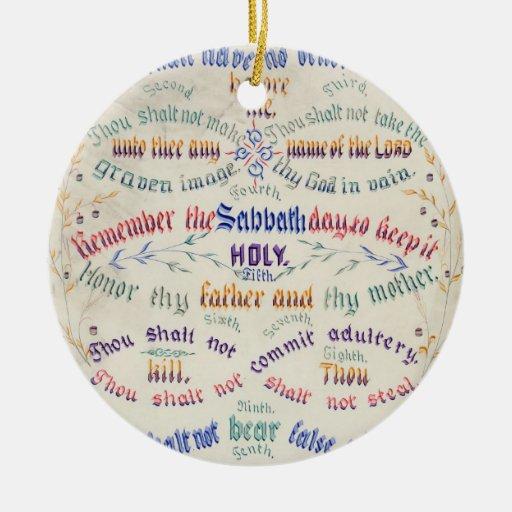El ornamento de diez mandamientos ornamentos de reyes magos