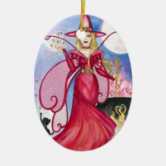 El ornamento de hadas Bewitching Adorno Navideño Ovalado De Cerámica