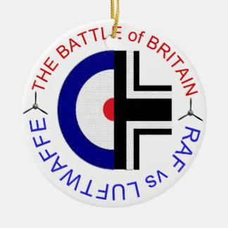 El ornamento de la batalla de Inglaterra Adorno Navideño Redondo De Cerámica
