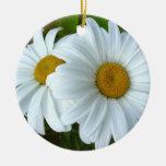 El ornamento de la margarita florece la decoración adornos de navidad
