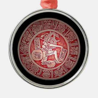 El ornamento de lujo maya del navidad ornamento para arbol de navidad