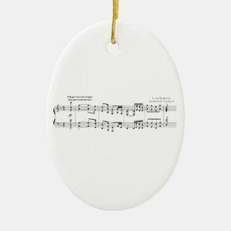 El ornamento de no 9 de la sinfonía adorno de navidad