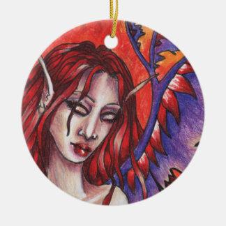 El ornamento de Phoenyx Adorno Navideño Redondo De Cerámica