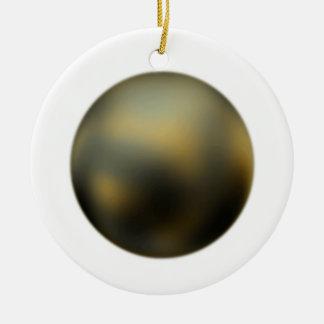 El ornamento de Plutón del planeta Adorno Redondo De Cerámica