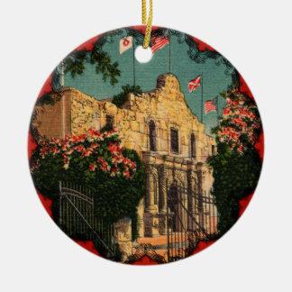 El ornamento de Tejas del vintage de Álamo Ornamentos Para Reyes Magos