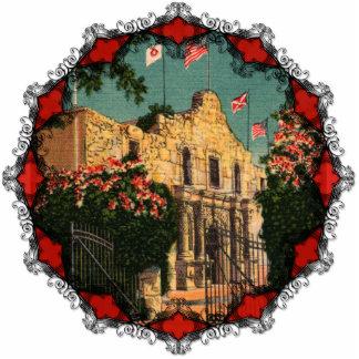 El ornamento de Tejas del vintage de Álamo Escultura Fotografica