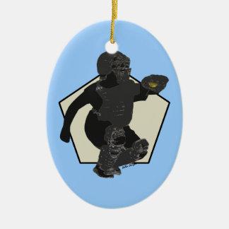 El ornamento del colector del softball de adorno ovalado de cerámica