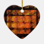 El ornamento del corazón del arte abstracto de la ornamento para arbol de navidad